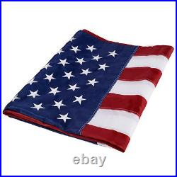 10'x15' FT American Flag USA US US Sewn Stripes Embroidered Stars Brass Grommet