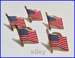 100 American flag lapel pins MADE IN USA Patriotic 4th of July Trump events