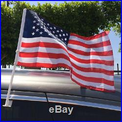 100 pcs U. S. American Clip On Car Truck Window Clip Flags 18 x 12-Polyester