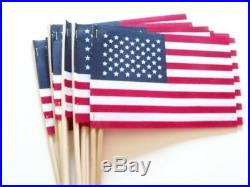 1000 American USA Stick Flags US Made 4X6 Bulk Wholesale Hand held small mini