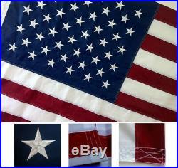 10x15 Embroidered Sewn U. S. USA American 50 Star Premium Nylon Flag 10'x15