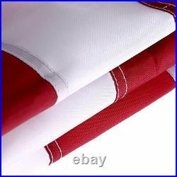 10x15 USA American Flag Nylon Heavy Duty Embroidered Stars Sewn Stripes Grommets