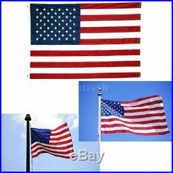 10x15 ft, American Flag US USA Embroidered Stars, Sewn Stripes, Brass Grommets