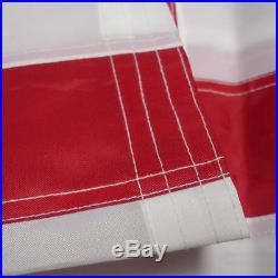 10x15 ft Deluxe US American Flag Large Jumbo Sewn Nylon Embroidered Stars USA