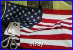 10x19 Embroidered Sewn USA American 600D Nylon Flag 10'x19