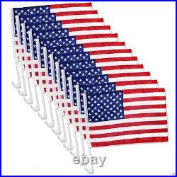12 Pack USA AMERICAN Car Flag Patriotic Car Truck Window Clip Flag 18x12