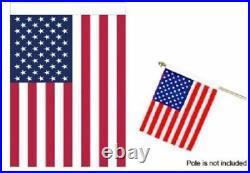 18x24 US USA AMERICAN FLAG POLE SLEEVE HEM BANNER POCKET 1.5 x 2 Feet
