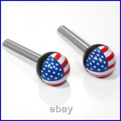 2 American Flag USA Ball Interior Door Lock Knobs Pins for Car-Truck-HotRod