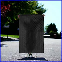 (2 PACK) All Black American Flag 3x5 210D Embroidered US USA Blackout Tactical