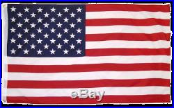 20' super THICK US steel AMERICAN FLAG POLE KIT WHITE & USA 3'X5' FLAG POLYESTER
