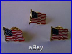 200 High Quality American Waving Flag Lapel Pins Patriotic US U. S. USA U. S. A