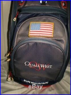 2017 Sun Mountain C-130 Cart Bag Red/Navy/White American Flag USA