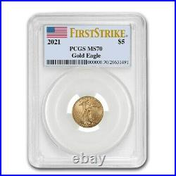 2021 American Gold Eagle PCGS MS70 FS In US Flag Holder USA Made PRE-SALE Coin