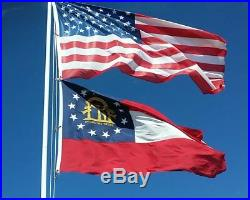 24 FT Residential Flag Pole Flagpole Kit & 3x5 US American Flag MADE IN USA MAGA