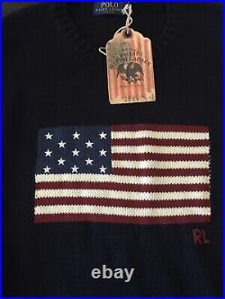 $248 Nwt 2020 Polo Ralph Lauren XXL Heavyweight 2020 USA Flag Cotton Sweater