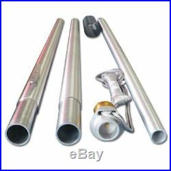 25'foot Pole Commercial Flagpole Tapered Aluminum High Quality American Made USA