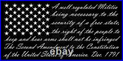 2nd Amendment, America's Original Homeland Security, Flag Canvas Wall Art