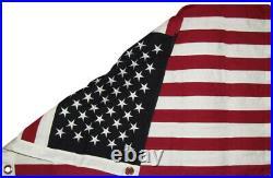 2x3 Embroidered USA American Sewn 100% Cotton flag 2'x3' ft 2 Clips / USA Pin