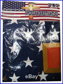 3x5 American USA Christian Cross 3'x5' Jesus 100D Oxford Polyester Flag