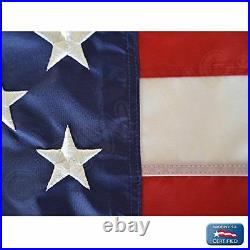 4x6 American Flag Made In USA Stars Embroidered Stripes Sewn Grommets Nylon USA