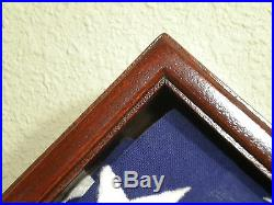 5 X 9 Mahogany With Base Flag Display Case American Military Burial Funeral USA