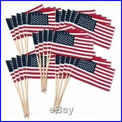 500 American USA Stick Flags US Made 4X6 Bulk Wholesale Hand held small mini
