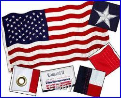 5x8 ft AMERICAN USA FLAG 2 Ply HD Spun Polyester SEWN STARS & STRIPES USA Made