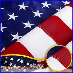 8'x12' ft American Flag US USA EMBROIDERED Stars, Sewn Stripes, Brass Grommets
