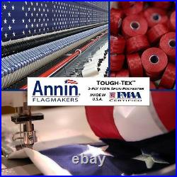 8x12 FT US American Flag Annin Tough Tex Polyester Flag 6 Rows Of Stitching