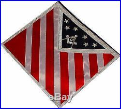 AMERICAN Blue Lodge Patriotic Masonic Freemason U. S. Flag Apron