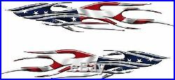 AMERICAN FLAG Pontoon Rv Boat Car Truck Graphics Decals Stickers USA 75