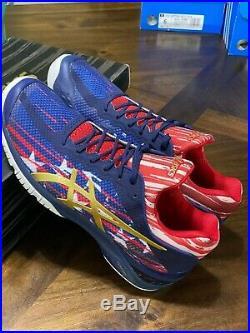 ASICS Gel Court FF LE American Flag USA Blue Red White Men's Shoes Sz 9