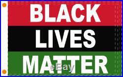 African American Black Lives Matter USA Flag 2X3 Feet 100% American Flag Brass