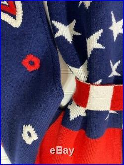 Alanui American flag USA Americana cashmere cardigan jacket S NWT