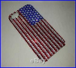 American Flag Crystal Diamond Back Case For IPHONE X 10 Made w SWAROVSKI CRYSTAL