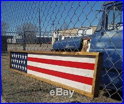 American Flag Distressed Wood Sign/Rustic/4th of July/U. S. A. /Memorial Day