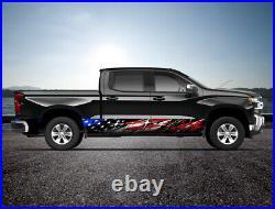 American Flag Grunge USA Rocker Panel Truck SUV Graphic Decal Wrap Kit -4 Sizes