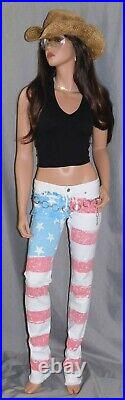 American Flag Jeans Proud MADE IN USA LA Cali- was$275 HARLEY DAVIDSON RIDE JEAN