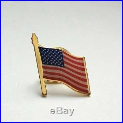American Flag Lapel Pin MADE IN USA Lots 1 5 10 25 100 Memoial Day 4th of July