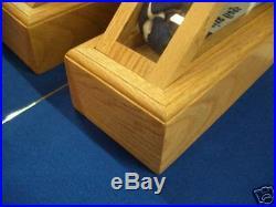 American Flag Quadview Display Case Oak 5x9 Veteran Memorial Burial USA Made