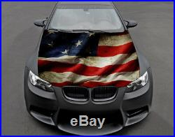 American Flag USA Full Color Sticker Car Hood Vinyl Graphics Decal Wrap PN482