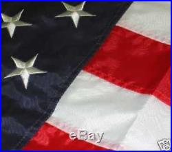 American Flag USA US Embroidered & Stitched NEW 182 cm X 305 cm 6X10 6 X 10