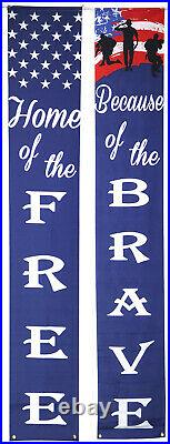 American Patriotic Decoration Banner 4th of July Porch Sign Hang Flag