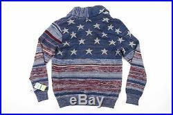 American Rag Stars Stripes Patriot Cardigan Sweater USA Flag Mens Nwt New