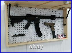 American USA Flag Unfinished Concealment Cabinet Secret Hidden Gun Rack Storage