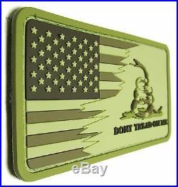 American USA Us Flag Don't Tread On Me Snake 3d Pvc Desert Velcro Brand Patch