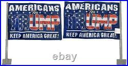 Americans For Trump Blue Rough Tex Knit 2-Sided 12x18 12x18 Car Vehicle Flag