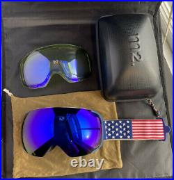 Anon M2 Team USA Ski/Snowboard Goggles with extra lens American Flag