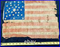 Antique 31 Stars Scatter Star American Parade Flag 1851-1858 California USA