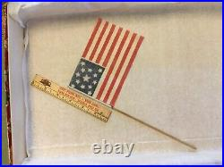Antique American 6 Parade Flag13 STAR 1876 Centennial USA July 4th Independence